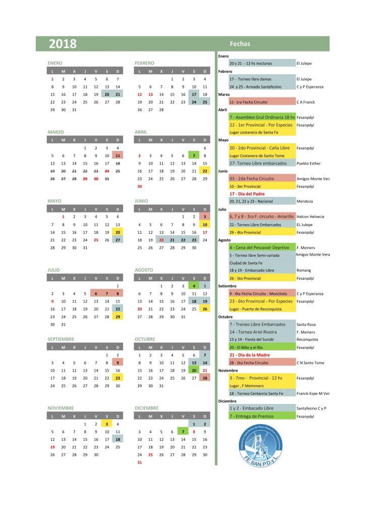 CALENDARIO 2018 - 6